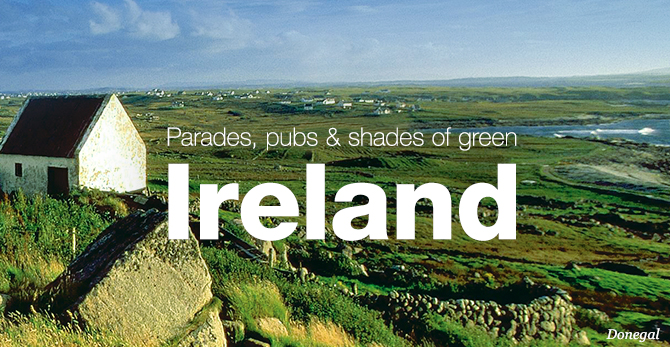 Ireland Pubs and green